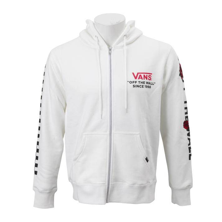 【VANS】 ヴァンズ Checker & Rose ZIP UP HOOD 【VANSウェア】Checker & Rose ZIP UP CD18FW-MC11 WHITE S