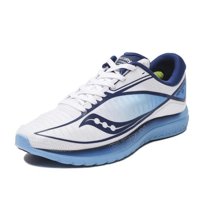 レディース【SAUCONY】 WMNS KINVARA 10 キンバラ10 S10467-3 WHITE/BLUE 8(24.5cm)