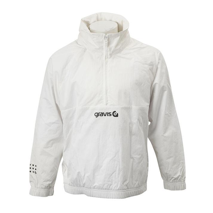 """""""【gravisウェア】M G ANORAK グラビス アノラック G-01 WHITE S"""""""