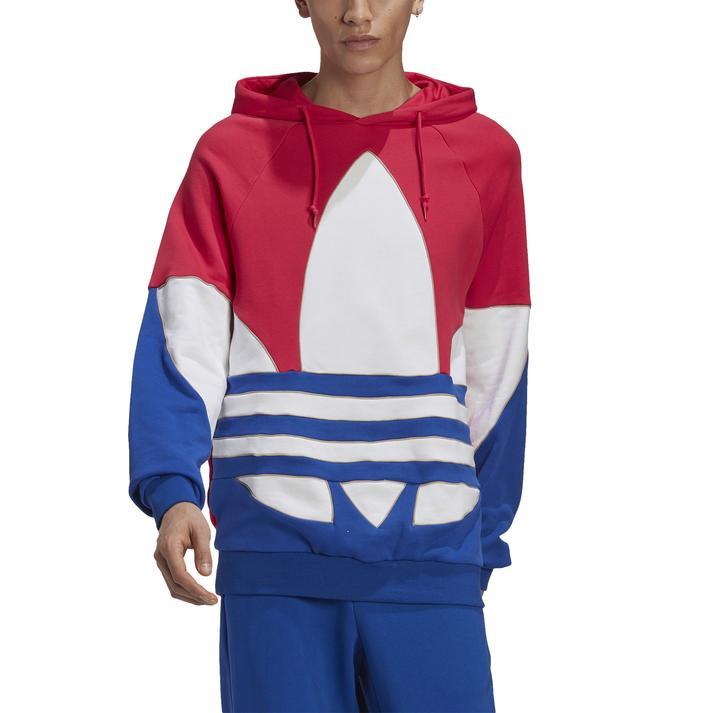 【adidas ウェア】アディダス M OUT CLR BL HOODIE ビッグ トレフォイル アウトライン カラーブロック パーカー GE6226