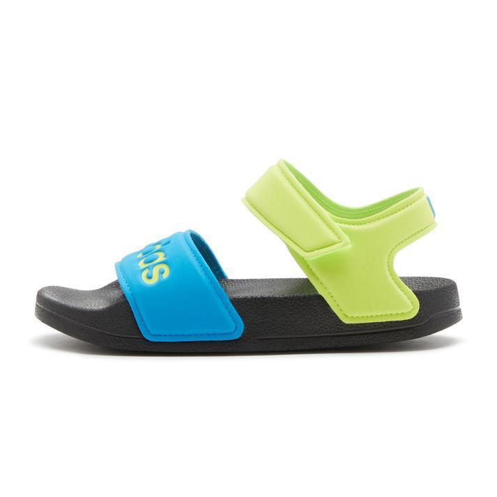 キッズ【ADIDAS】 アディダス 17-21adilette sandal k アディレッタサンダル FY8850 CBLK/SYEL/SBLU 20cm